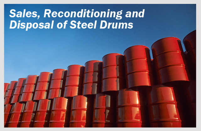 Sales, Reconditioning and Disposal of Steel Drums
